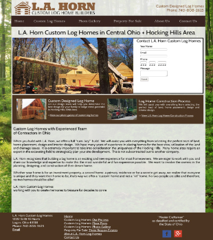 L.A. Horn Log - Custom Built Log Homes