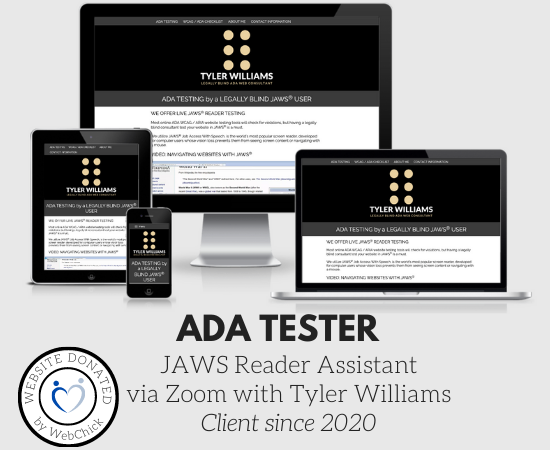 Tyler Williams - Legally Blind ADA Web Consultant
